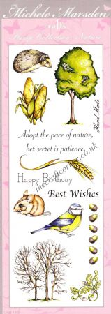 Animal, Bird, Nature & Wording 13 Uncut & Unmounted Rubber Stamps